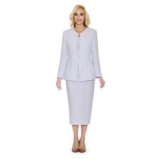 Giovanna Signature Women's Non-collar 3-piece Skirt Suit