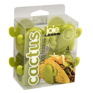 Joie Cactus-Shaped Easy-Filling Taco Shell Holder Stands - 4 pack - Green