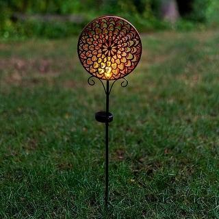Solar LED Shadow Garden Stake Light