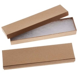 Kraft Brown Cardboard Jewelry Boxes 8 x 2 x 1 Inches (16)