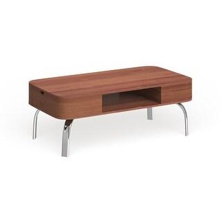 Furniture of America Zeca Mid-century Modern Walnut Coffee Table