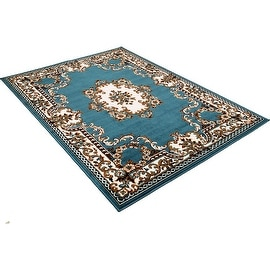 """Allstar Blue Woven High Quality Rug. Traditional. Persian. Flower. Western. Design Area Rugs (3' 9"""" x 5' 1"""")"""