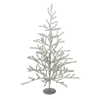 3' Champagne Tinsel Full Artificial Christmas Twig Tree - Unlit - 3 Foot