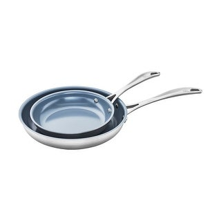 ZWILLING Spirit 3-ply 2-pc Stainless Steel Ceramic Nonstick Fry Pan Set - Stainless Steel