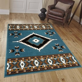 """Allstar Light Blue Woven High Quality Rug. Traditional. Persian. Flower. Western. Design Area Rugs (3' 9"""" x 5' 1"""")"""