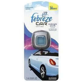 Febreze Car Vent Clip Air Freshener, Midnight Storm 1 ea