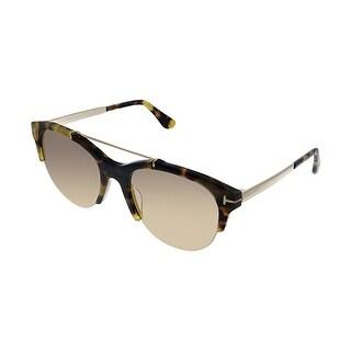 Tom Ford Adrenne TF 517 56Z Womens Light Havana Frame Pink Lens Sunglasses