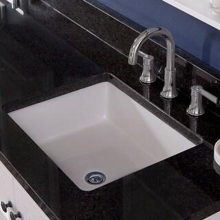 "PROFLO PF1713U 19-7/8"" Undermount Bathroom Sink with Overflow - White"