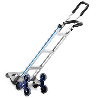 Costway 2 in 1 Hand Truck Stair Climber Hand Truck Aluminum Cart Dolly
