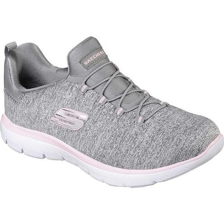 Skechers Women's Summits Quick Getaway Sneaker Gray/Light Pink