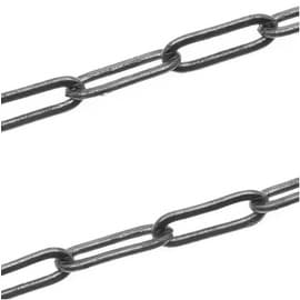 Gun Metal Long Flat Link Cable Chain 3.3x8.3mm - Bulk By The Foot