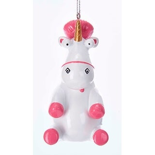 Kurt Adler Despicable Me White Fluffy Unicorn Blow Mold Holiday Ornament