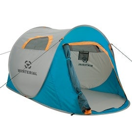 Winterial 2-Person Instant Pop Up Tent - Perfect for Camping / Festivals / Over-Night Trips / Quick / Portable