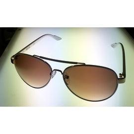 Kenneth Cole Reaction Sunglass White Metal Aviator, Brown Gradient KC1233 24F