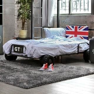 Furniture of America Cish Modern Grey Metal Youth Bed
