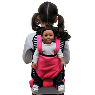 Pink, Black & White Childs Backpack Doll Carrier & Sleeping Bag Clothes & Accessory Storage Fits 18 in American Girl Dolls