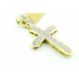 Diamond Cross 10K Gold 1/3cttw Diamonds Yellow Gold 39.5mm tall( 0.33cttw)