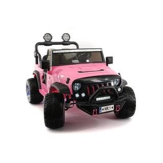 Explorer 12V Kids Ride-On Car Truck with R/C Parental Remote Pink