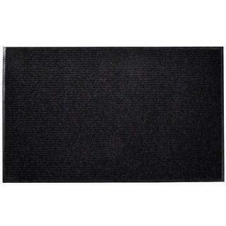 "vidaXL Black PVC Door Mat 35"" x 24"""