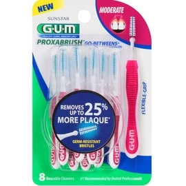GUM Go-Betweens Proxabrush Cleaners Moderate 8 Each