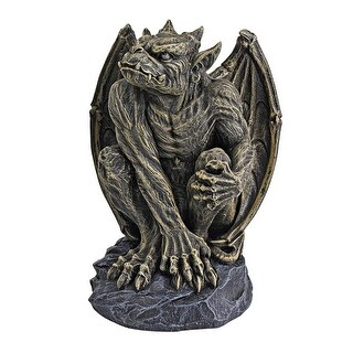 Design Toscano Halloween Silas the Gargoyle Sentry Statue: Medium