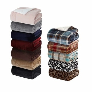 Merrylife Sherpa Throw Blanket Plush Fleece Couch Blankets