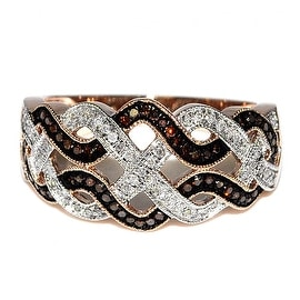 Diamonds Anniversary Ring Cognac White Diamonds Band 11mm Wide Rose Gold 1/4cttw(0.25cttw)