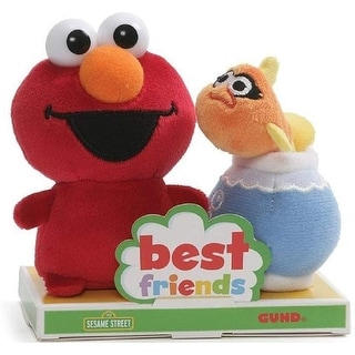 Sesame Street Elmo and Dorothy 4 Inch BFF Plush Set - Red