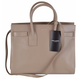 New Yves Saint Laurent YSL Beige Leather Sac de Jour Small Handbag Purse W/Strap