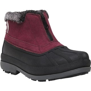Propet Women's Lumi Ankle Zip Duck Boot Berry Suede