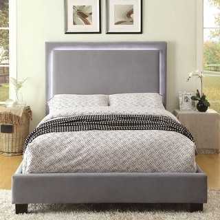 Silver Orchid Berger LED Light Grey Platform Bed