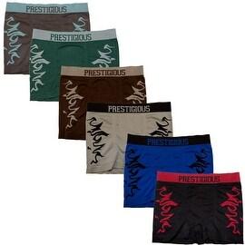 Men's 6-Pack Seamless Fire Print Boxer Briefs