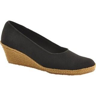 Beacon Shoes Women's Newport Black Canvas
