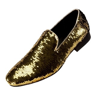 Amali Smoking Slipper Reversible Metallic Sequins Loafer