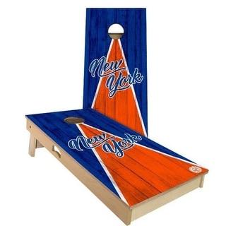 New York Triangle Baseball Cornhole Set - Choose Your Size & Accessories