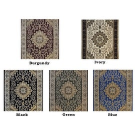 5x7 8x10 10x13 Burgundy Ivory Black Green Blue Persian Traditional Floral Rug Carpet