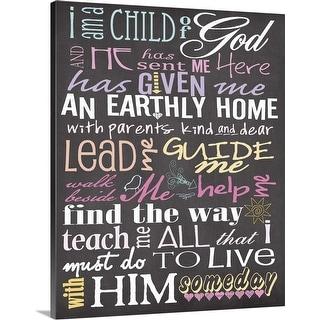 """I Am A Child Of God"" Canvas Wall Art"