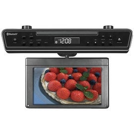 "Sylvania 10.2"" Under-Counter Bluetooth Kitchen Tv With Built-In Dvd Player & Hdmi"