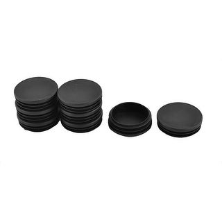Furniture Chair Leg Foot Plastic Round Tube Insert Cap Cover Black 58mm Dia 8pcs