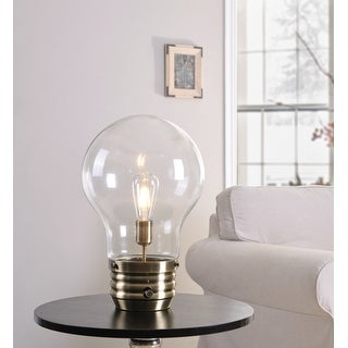 Carbon Loft Curie Antique Brass 18-inch Table Lamp - Bulb Included