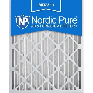 Nordic Pure 20x25x4 Pleated MERV 12 AC Furnace Air Filters Qty 2
