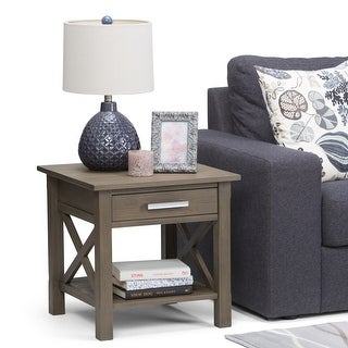 WYNDENHALL Waterloo SOLID WOOD 21 inch Wide Square Contemporary End Side Table - 21 inch Wide