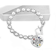 Someone with Autism Loves Me Beaded Charm Bracelet