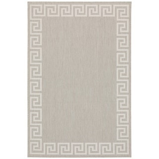 Palmetto Greek Key Border Indoor/ Outdoor Area Rug