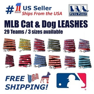 Pets First MLB Dog / Cat Leash - Licensed, Durable & Heavy Duty Leash