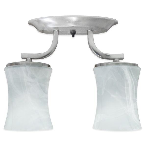 12 Volt Pendant Light Fixtures: LED 12Volt Double Glass Dinette Ceiling Light RV Motorhome
