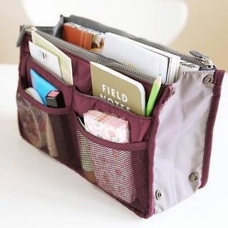 Multi-Pocket Bag And Purse Organizer Insert, Multiple Colors