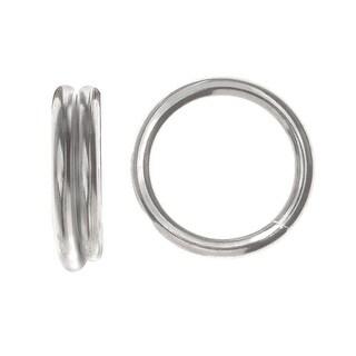 Split Rings, 8mm Diameter 18 Gauge Wire, 50 Pieces, Silver Plated