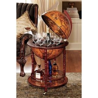 Design Toscano Sixteenth-Century Italian Replica Globe Bar - 22 x 22 x 38.5