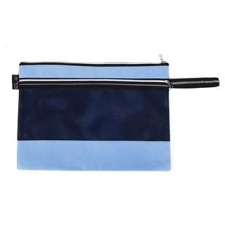 School Office Canvas Paper Document Protective File Bag Storage Holder Blue
